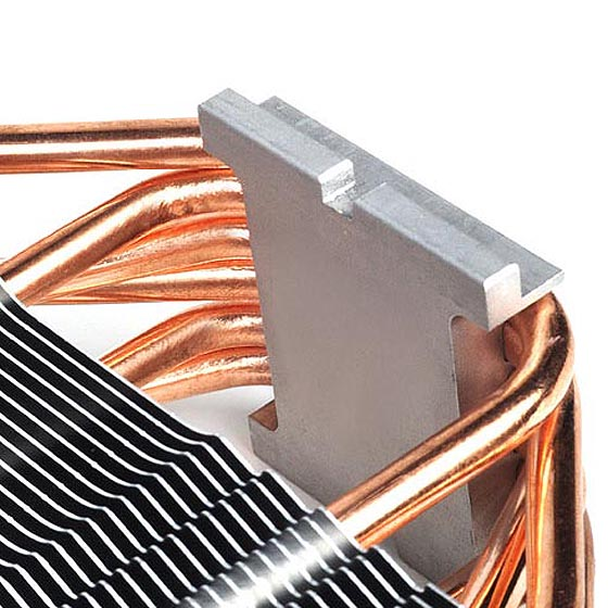 Six Ø6mm heat-pipes