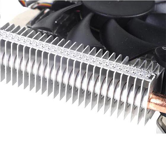 Aluminum fins for excellent heat conducting efficiency