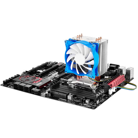 Cooling down surrounding motherboard components for effective overall thermal dissipation