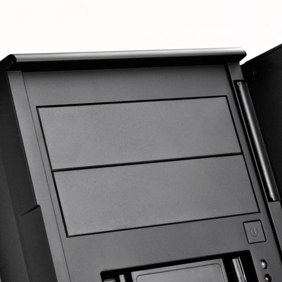 "Includes two flexible 5.25"" drive bays for more storage options"