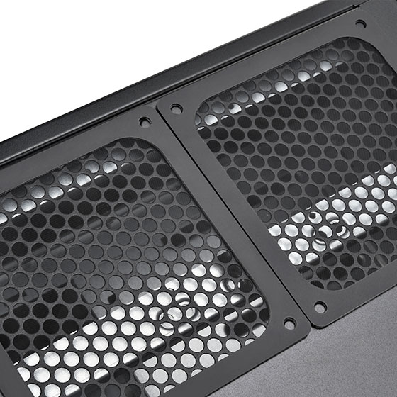 2 x 120mm or 3 x 80mm fan slot (optional)