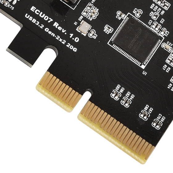 PCI Express Gen3 x4 lanes, transfer rate up to 32GT/s