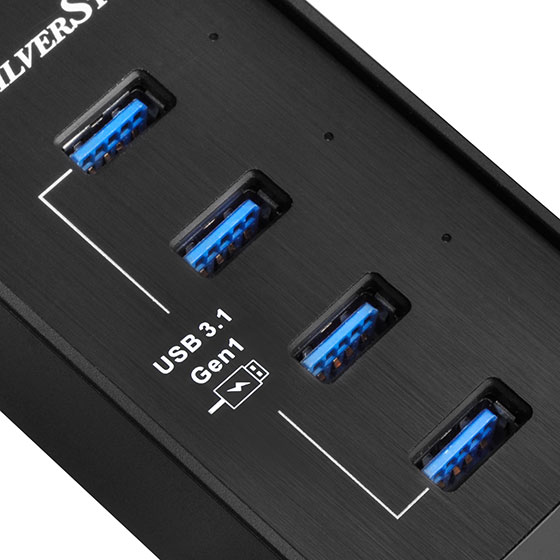Provides four 5Gbps Super Speed USB 3.1 Gen 1 USB ports