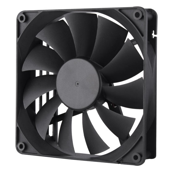 135mm silent black fan