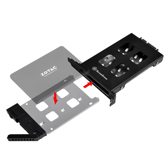 Removable drive Tray design for easy installation and maintenance
