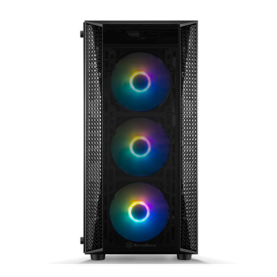 Front view (RGB fans illuminated)