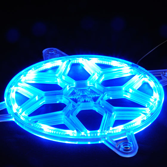 Integrated 24 pcs RGB LED Strip for brilliant light effects