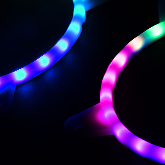 Integrated 24 pcs RGB LEDs Strip for brilliant light effects
