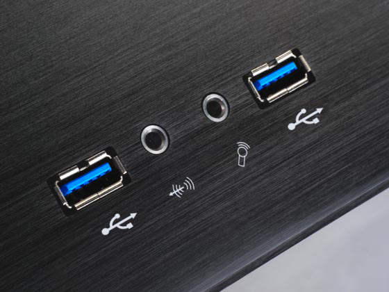 Dual USB, audio, and microphone ports