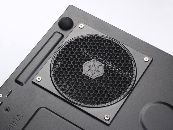Bottom mounted fan filter for PSU