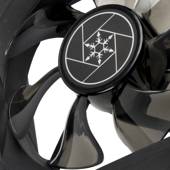 Close up view of 92mm PWM fan