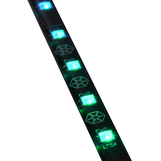 Close-up view of ARGB LEDs