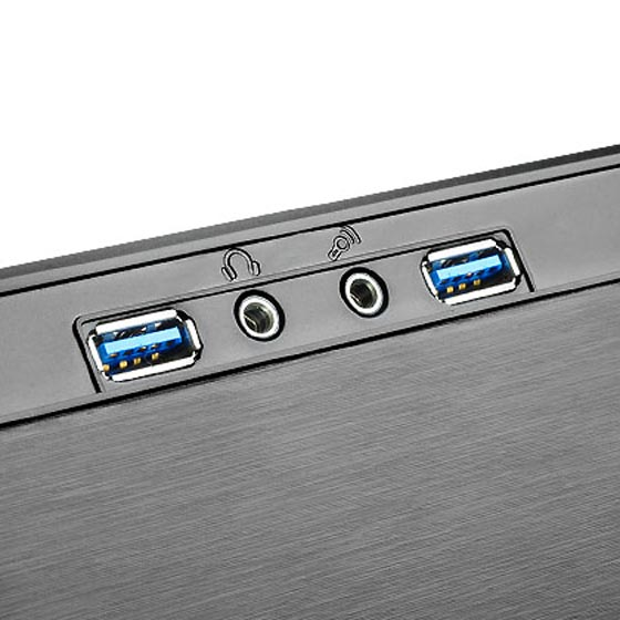 Front USB 3.0 and I/O ports