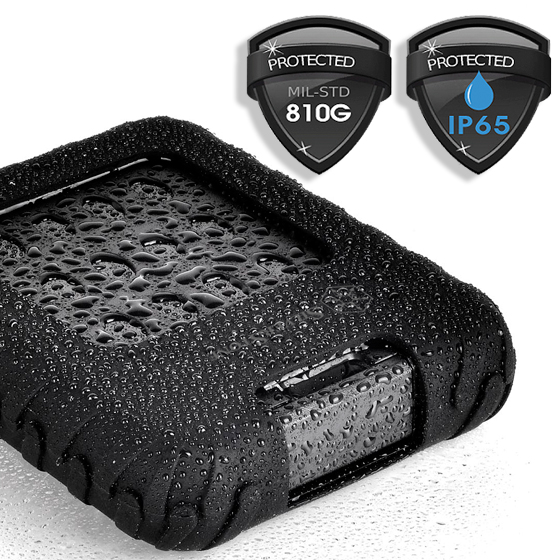 Certified IP65 for dust proof and water resistance
