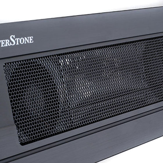 Top mesh grille with dual 50mm fan