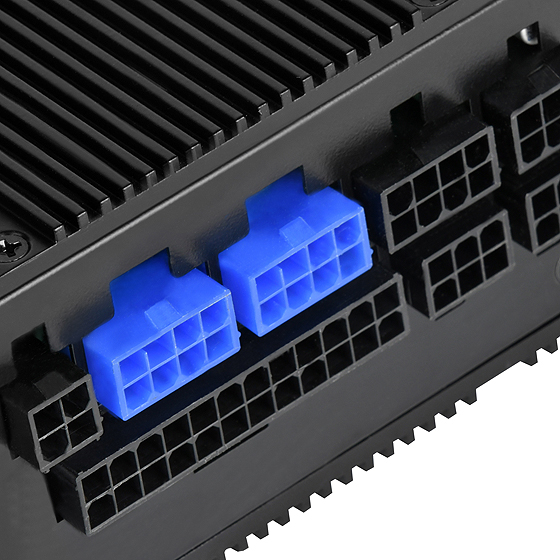 Full modular interface includes two PCIe connectors