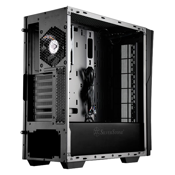 Super clean internal look with PSU and drive bay cover (standard version)