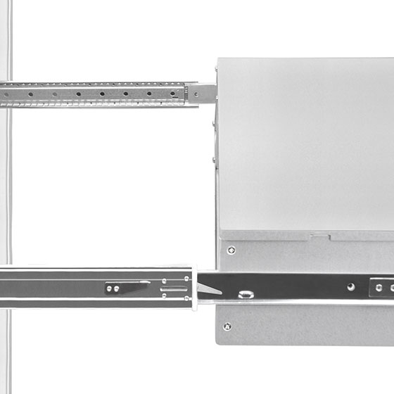 Support mounting of SilverStone's RM series chassis into server rack cabinets
