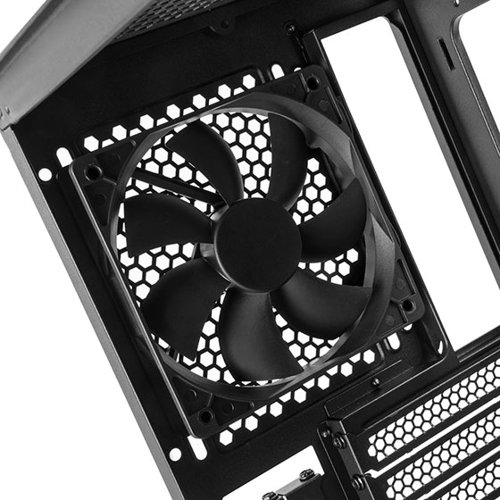 Included black 120mm rear fan