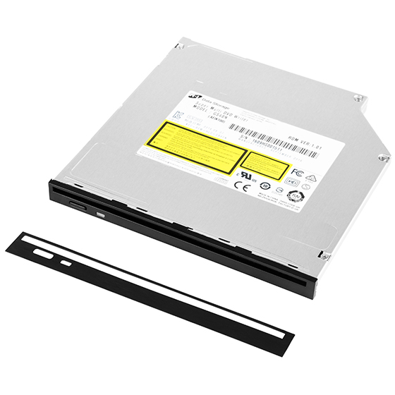 Fits seamlessly into either 9.5mm or 12.7mm optical drive slots