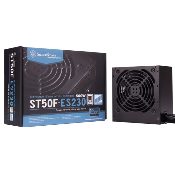 ST50F-ES230 retail package and power supply