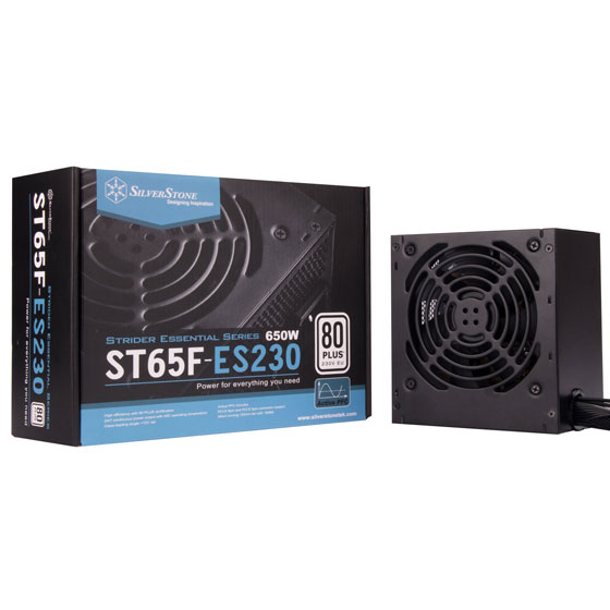ST65F-ES230 retail package and power supply