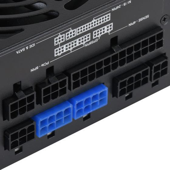 Close up view of modular connectors