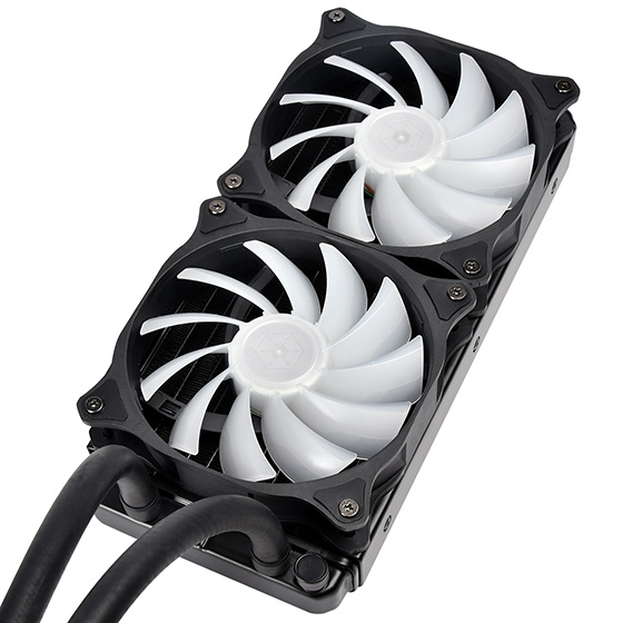 A pre-filled, closed loop or all-in-one (AIO) liquid cooler for easier installation
