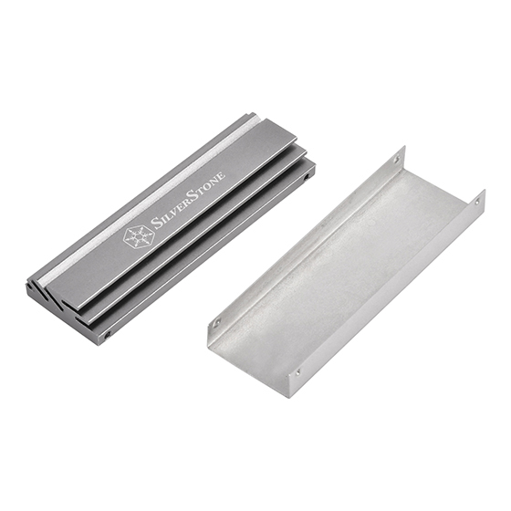 Top aluminum heatsink and bottom stainless steel cover